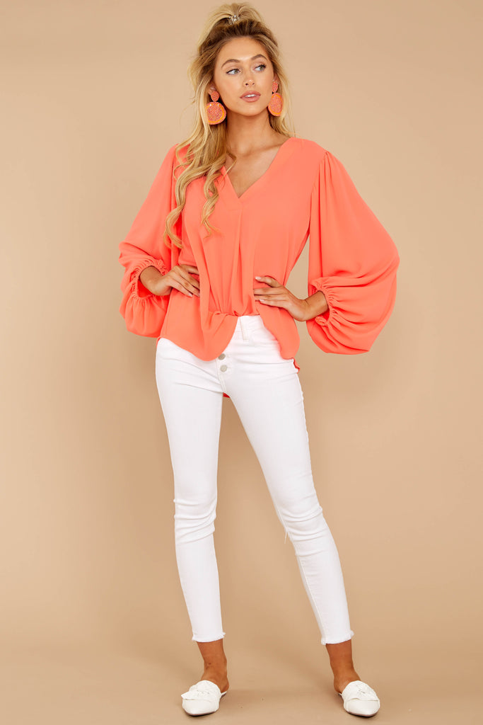 1 Sunday Brunch Golden Orange Top at reddressboutique.com