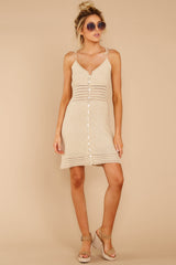 4 Storied Romance Beige Crochet Dress at reddressboutique.com