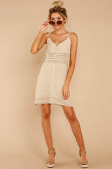 5 Storied Romance Beige Crochet Dress at reddressboutique.com
