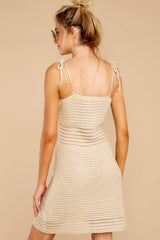 10 Storied Romance Beige Crochet Dress at reddressboutique.com