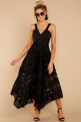 3 Above And Beyond Black Maxi Dress at reddress.com