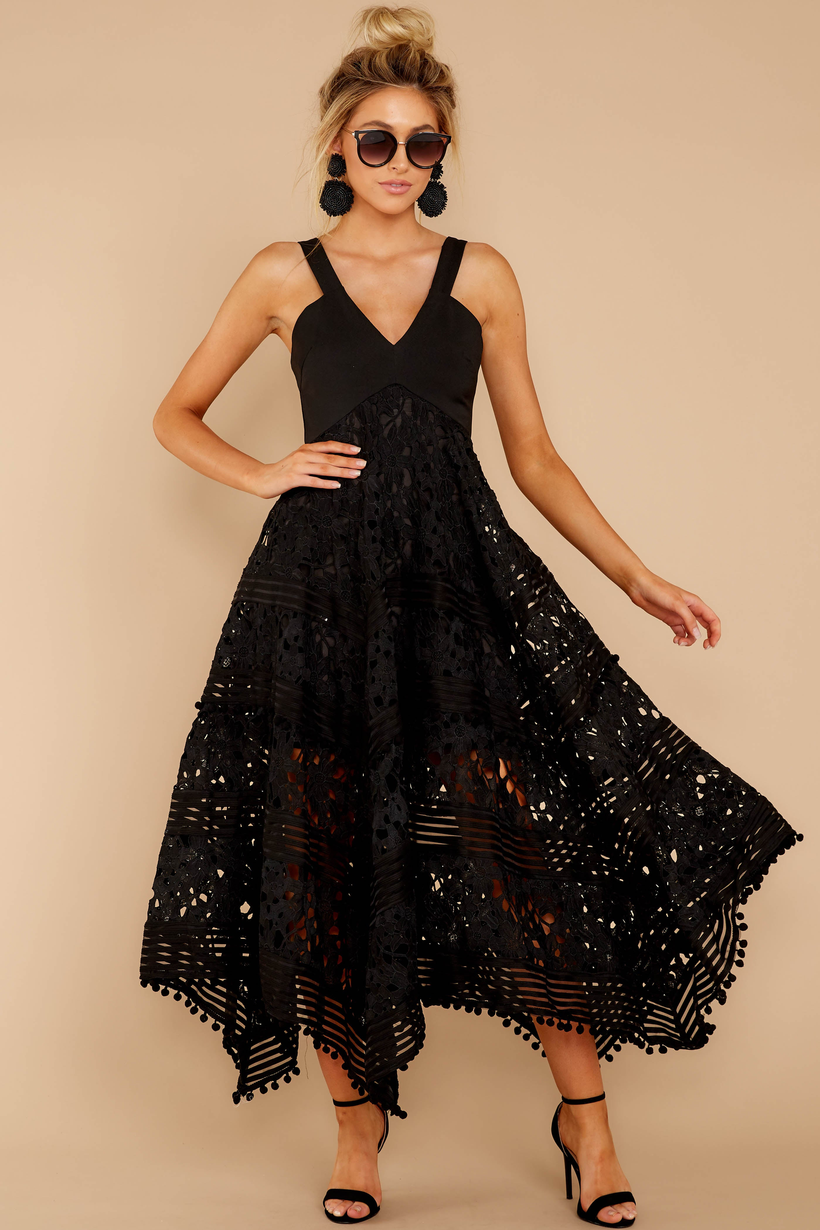 4 Above And Beyond Black Maxi Dress at reddress.com