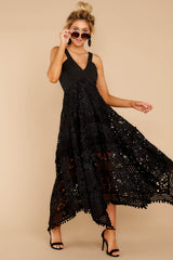 5 Above And Beyond Black Maxi Dress at reddress.com