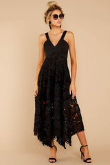6 Above And Beyond Black Maxi Dress at reddress.com