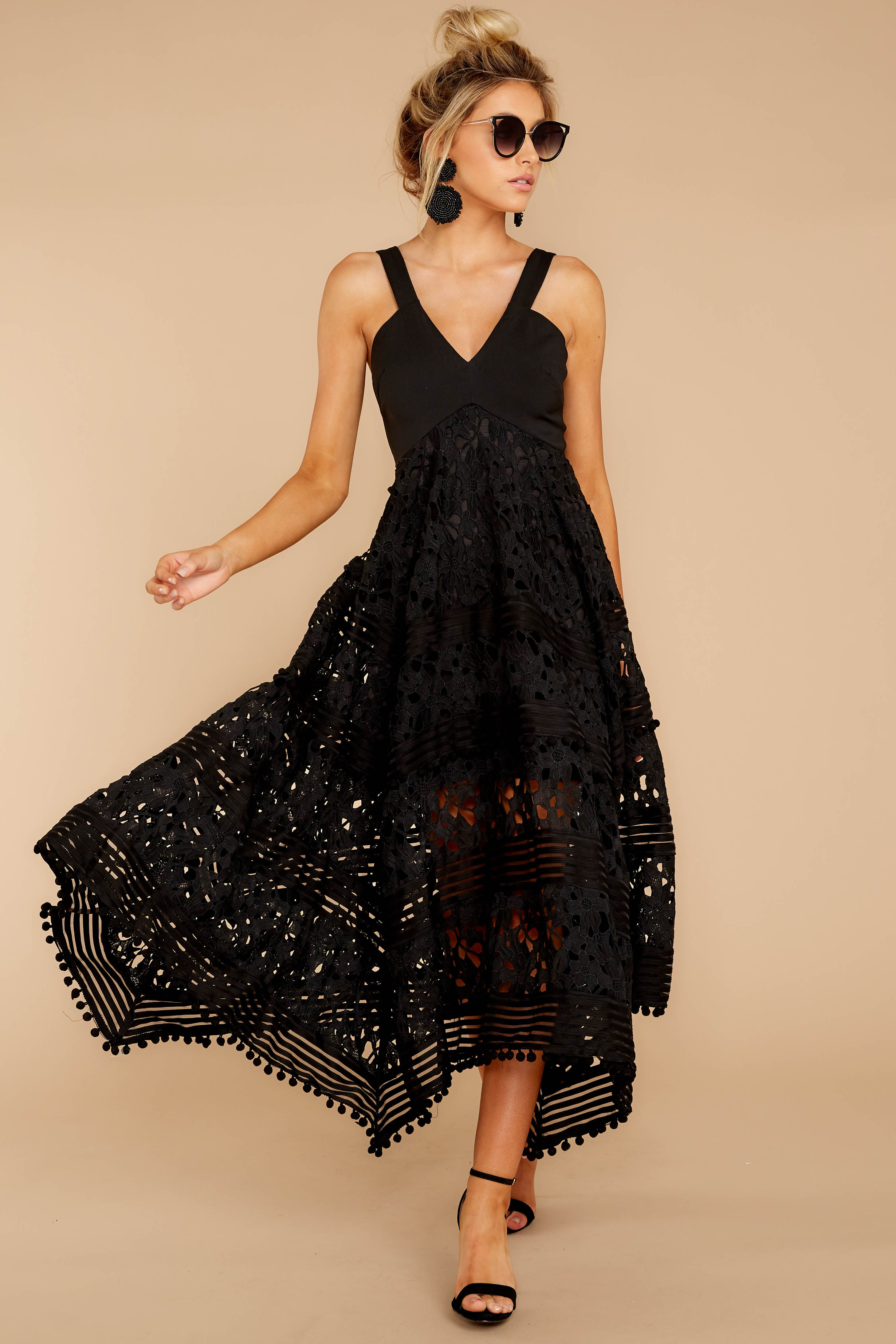 7 Above And Beyond Black Maxi Dress at reddress.com