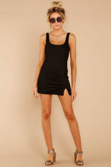 2 Make Some Time Black Dress at reddressboutique.com
