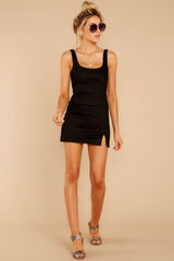 3 Make Some Time Black Dress at reddressboutique.com