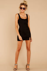4 Make Some Time Black Dress at reddressboutique.com