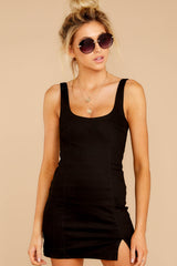6 Make Some Time Black Dress at reddressboutique.com