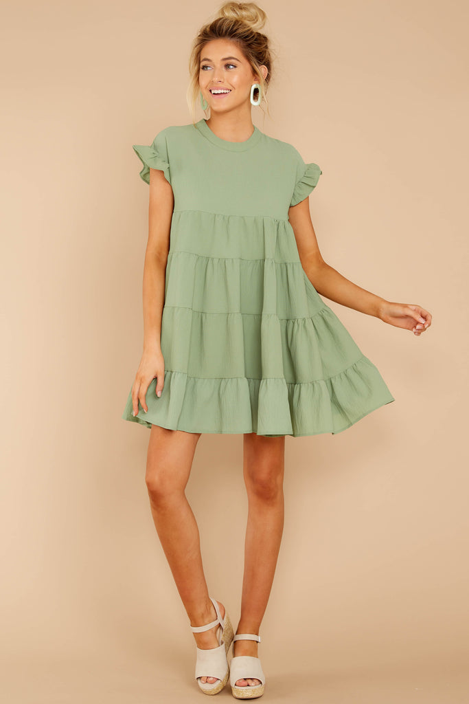 fa13ed1eea9 Nothing More Nothing Less Spring Green Dress