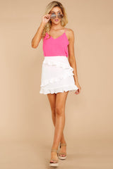 7 Play It Off White Skirt at reddressboutique.com