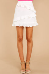 5 Play It Off White Skirt at reddressboutique.com