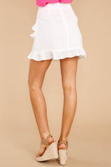 6 Play It Off White Skirt at reddressboutique.com