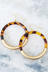 2 Got Away With It Gold And Tortoise Earrings at reddressboutique.com