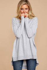 2 Weekender Sweater In Heather Grey at reddressboutique.com