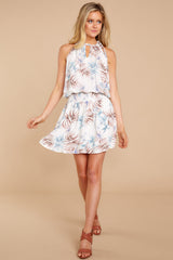 2 Stealing Your Heart White Tropical Print Dress at reddressboutique.com