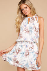 1 Stealing Your Heart White Tropical Print Dress at reddressboutique.com