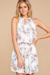 4  Stealing Your Heart White Tropical Print Dress at reddressboutique.com
