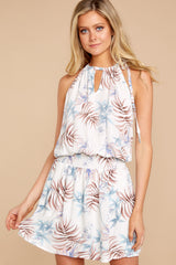 5 Stealing Your Heart White Tropical Print Dress at reddressboutique.com