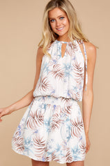 6 Stealing Your Heart White Tropical Print Dress at reddressboutique.com