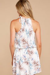 7 Stealing Your Heart White Tropical Print Dress at reddressboutique.com