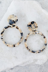 2 Looking For It Beige Tortoise Earrings at reddressboutique.com
