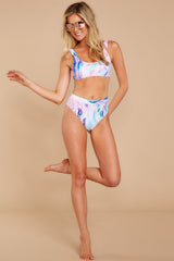 3 Weekends In The Hamptons Mint Multi Bikini Bottoms at reddressboutique.com