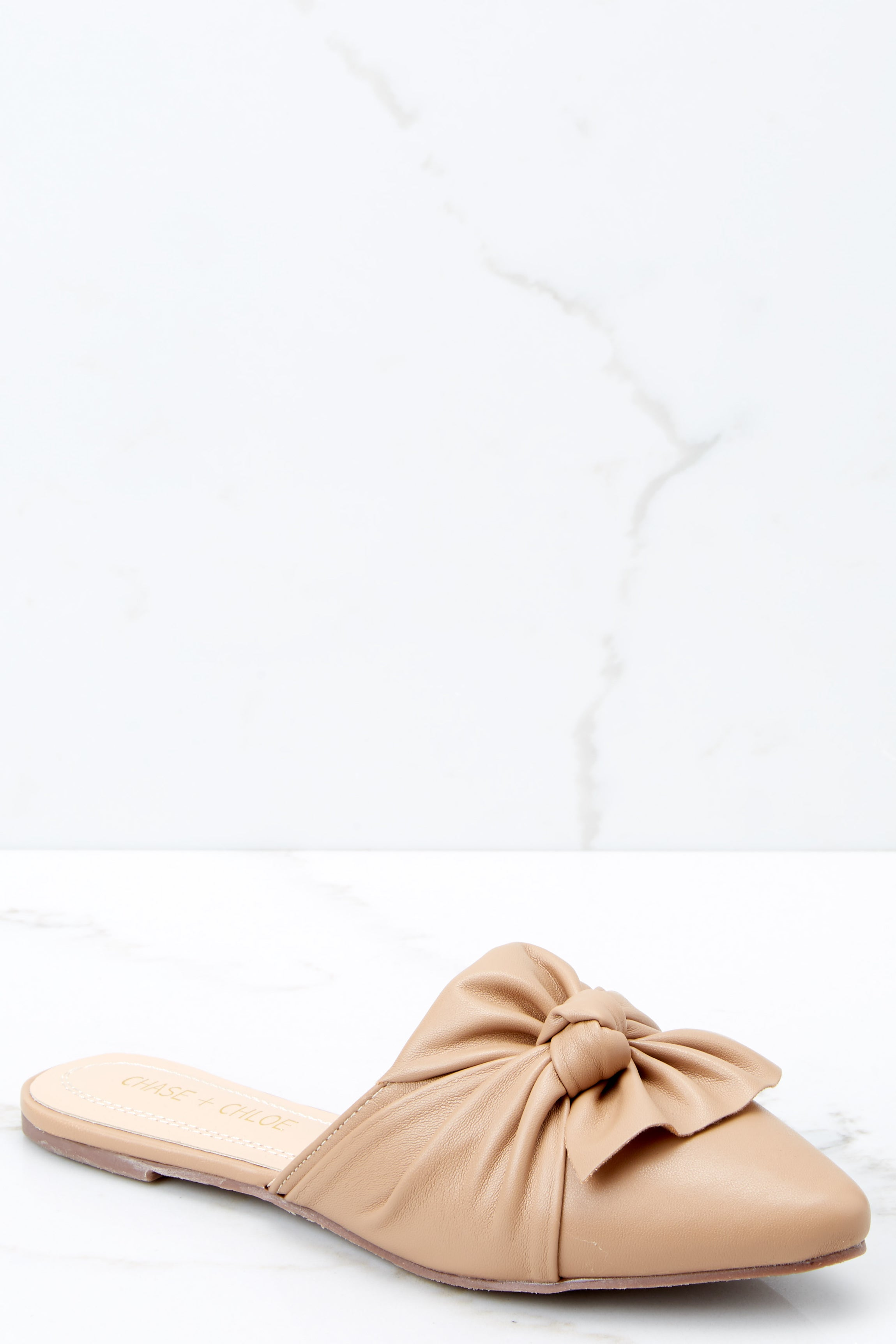 1 Set It Aside Nude Loafers at reddressboutique.com