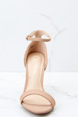 2 Timeless Moves Nude Ankle Strap Heels at reddressboutique.com