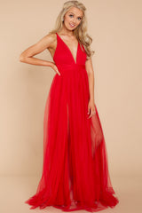 5 Matters Of The Heart Red Maxi Dress at reddressboutique.com