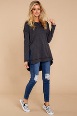 3 Weekender Sweater In Black at reddressboutique.com