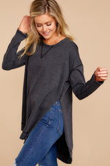 5 Weekender Sweater In Black at reddressboutique.com