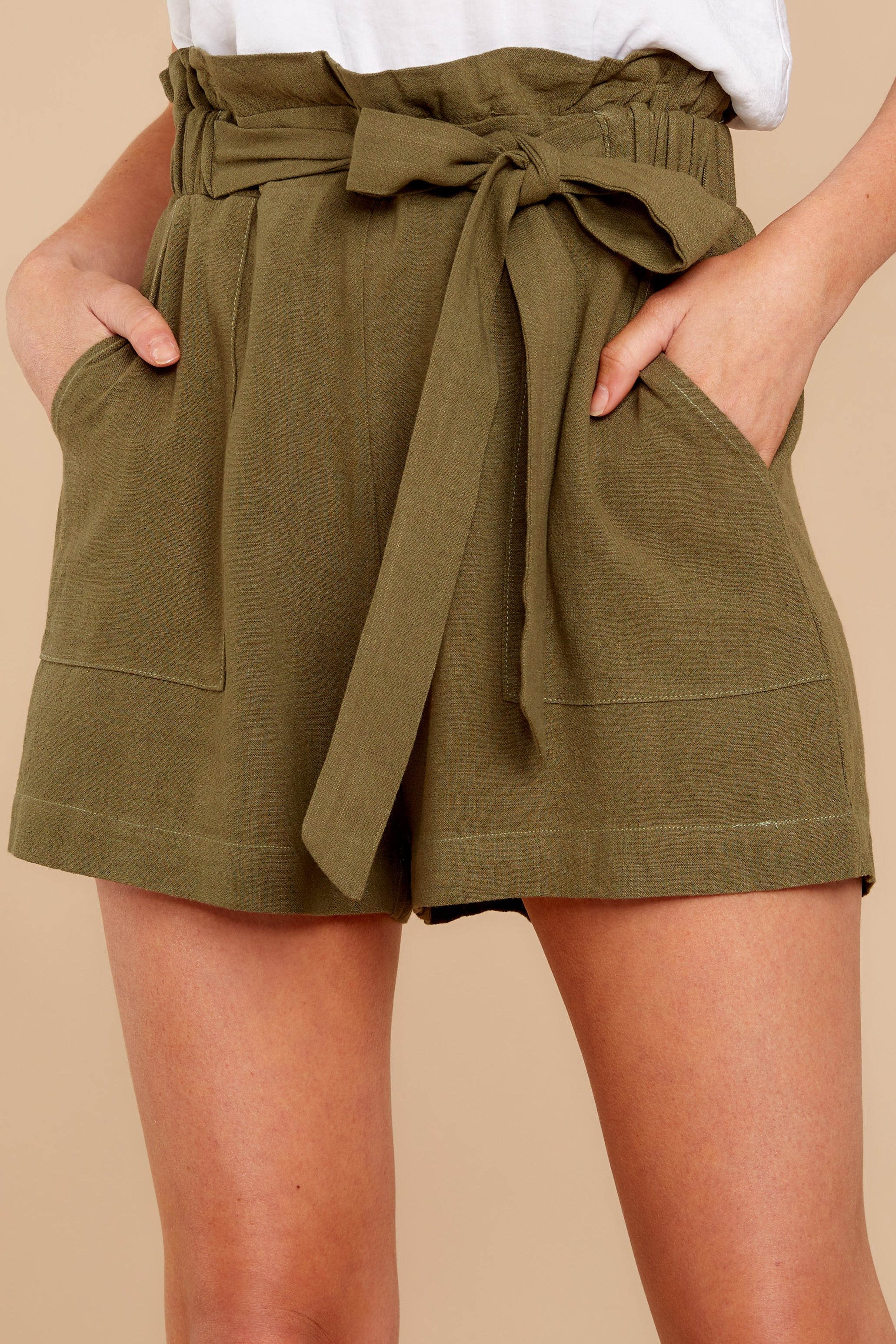 6ae3a9f87d951 Trendy Olive Green Shorts - Cute Shorts - Shorts - $38.00 – Red Dress