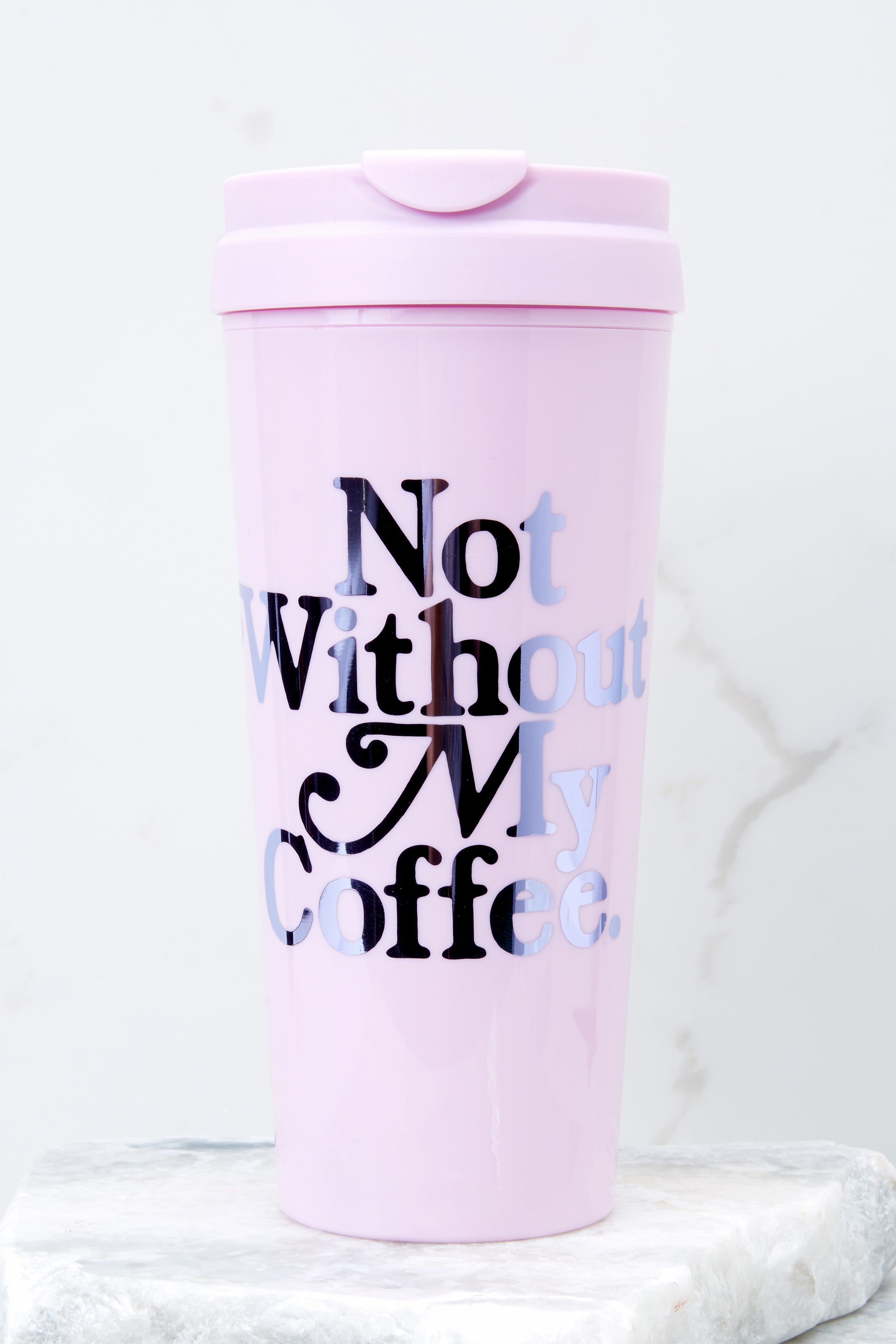 1 Not Without My Coffee Hot Stuff Thermal Mug at reddressboutique.com