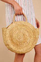1 All Around It Tan Round Bag at reddressboutique.com