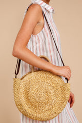 2 All Around It Tan Round Bag at reddressboutique.com