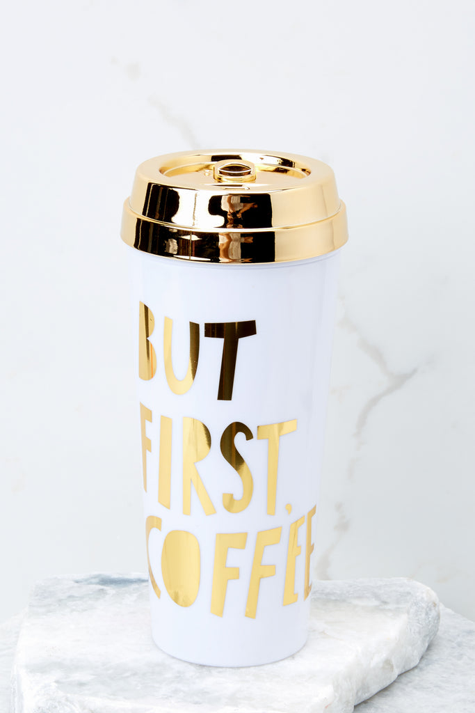 1 But First Coffee Hot Stuff Thermal Mug at reddressboutique.com