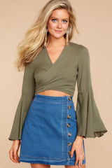3 Wanting This Olive Tie Top at reddressboutique.com