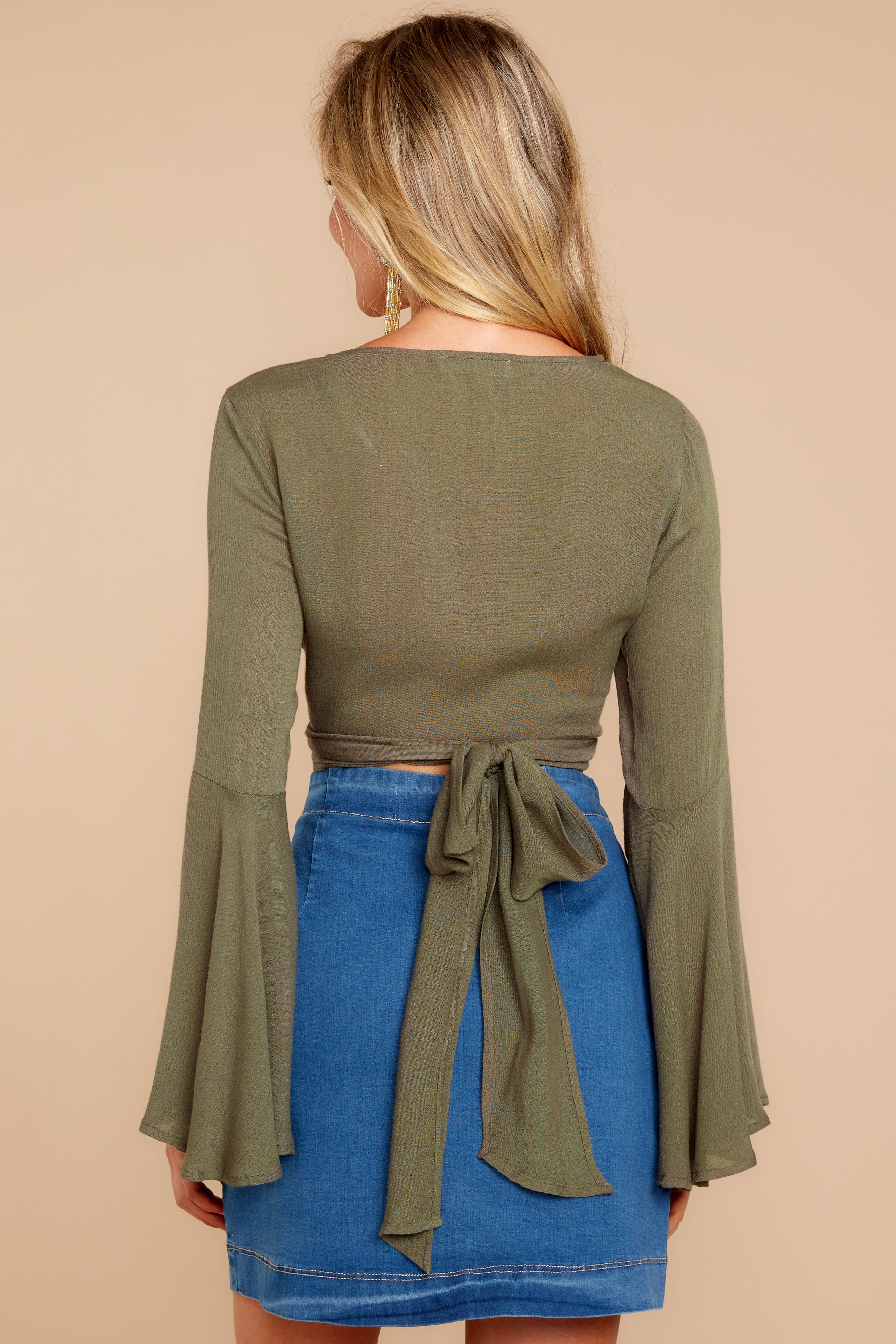 6 Wanting This Olive Tie Top at reddressboutique.com