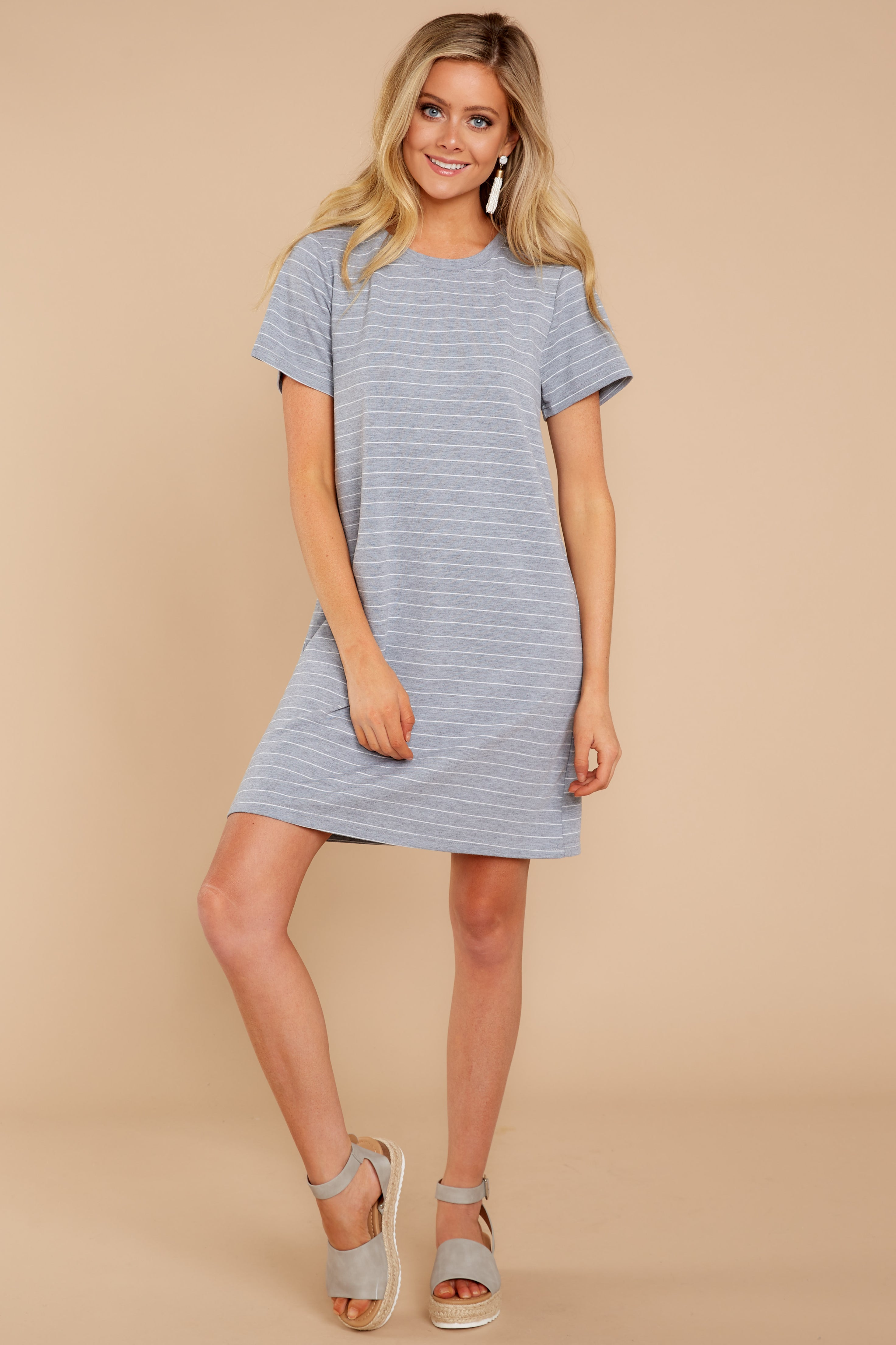 1 Have To Have This Grey Striped Dress at reddressboutique.com