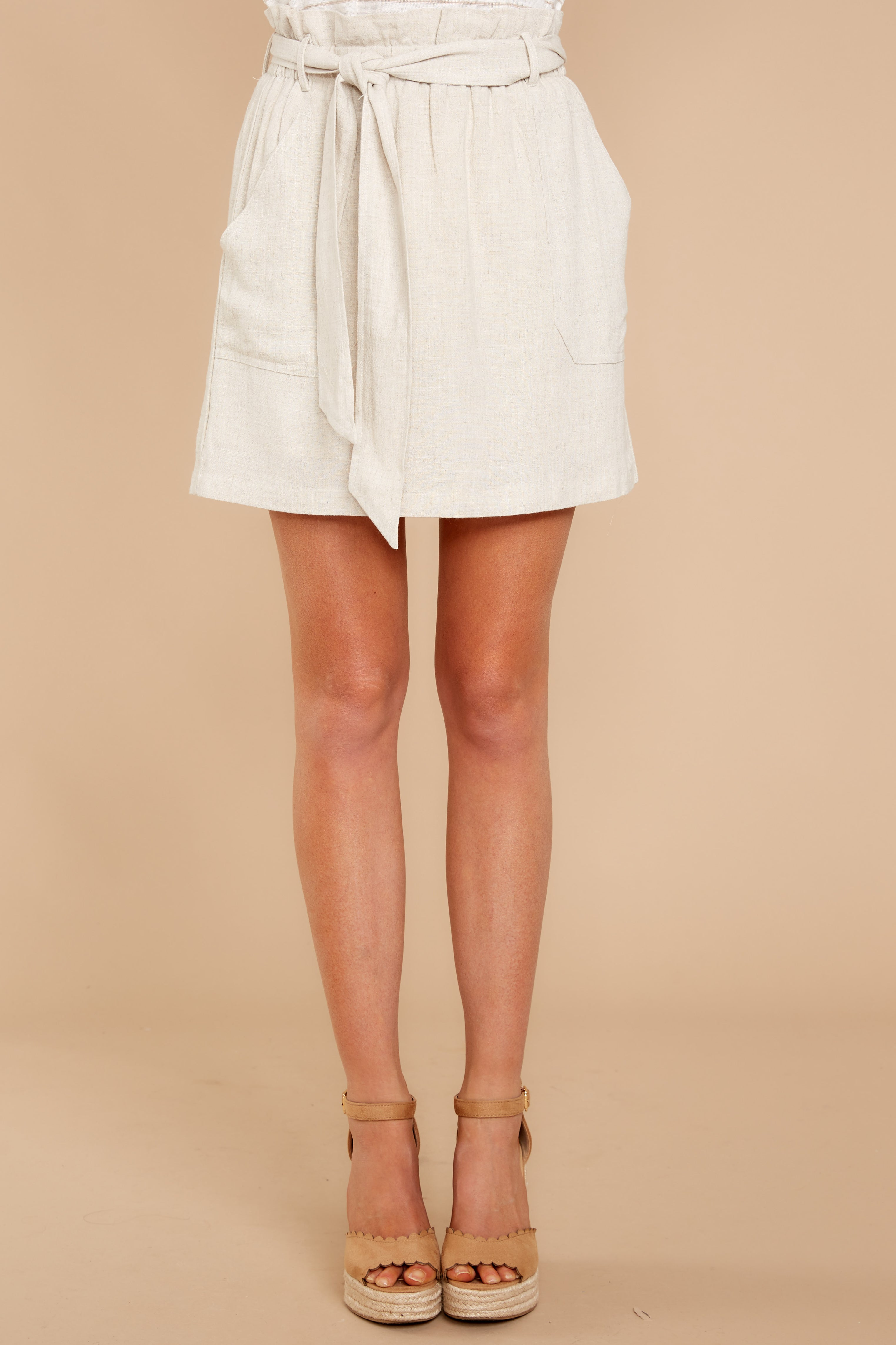 7 Live For This Beige Skirt at reddressboutique.com
