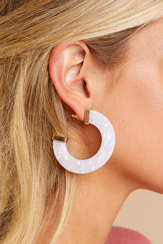 3 Worth It All White Tortoise Earrings at reddressboutique.com
