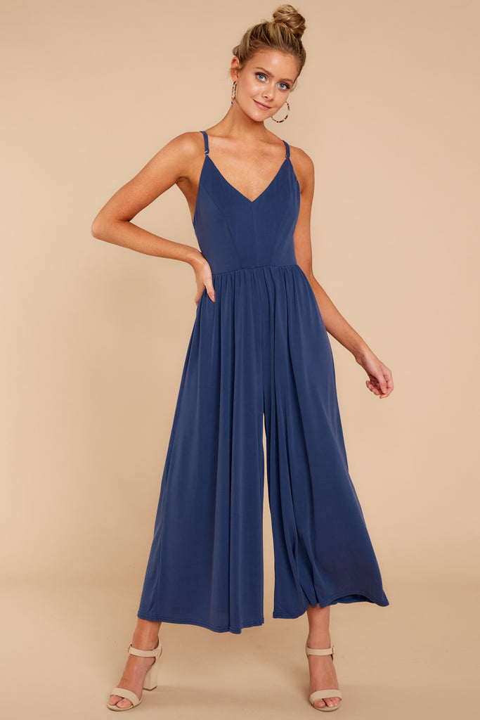 1 Sky's The Limit Royal Blue Romper at reddressboutique.com