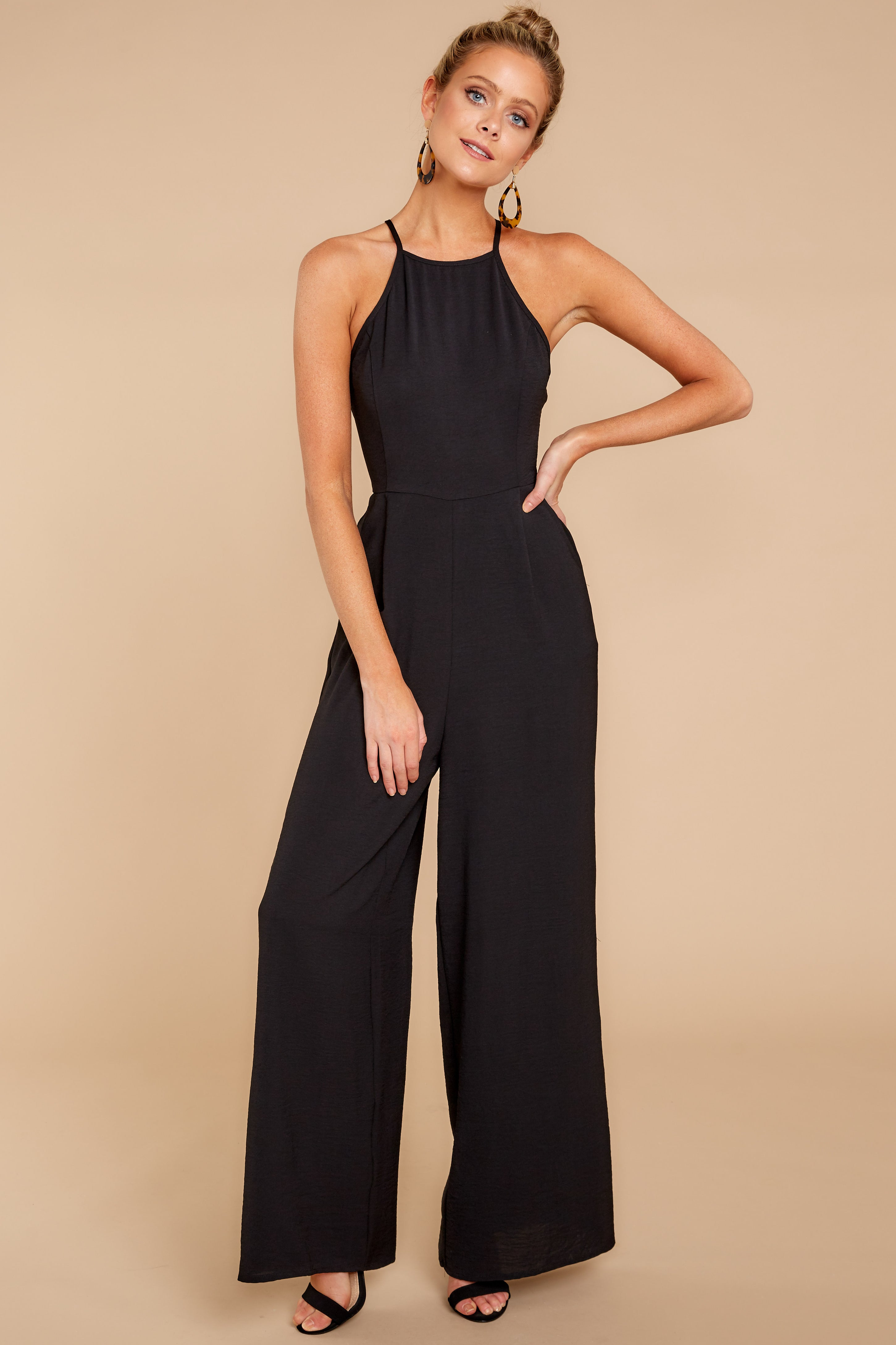1 No More Games Black Jumpsuit at reddressboutique.com