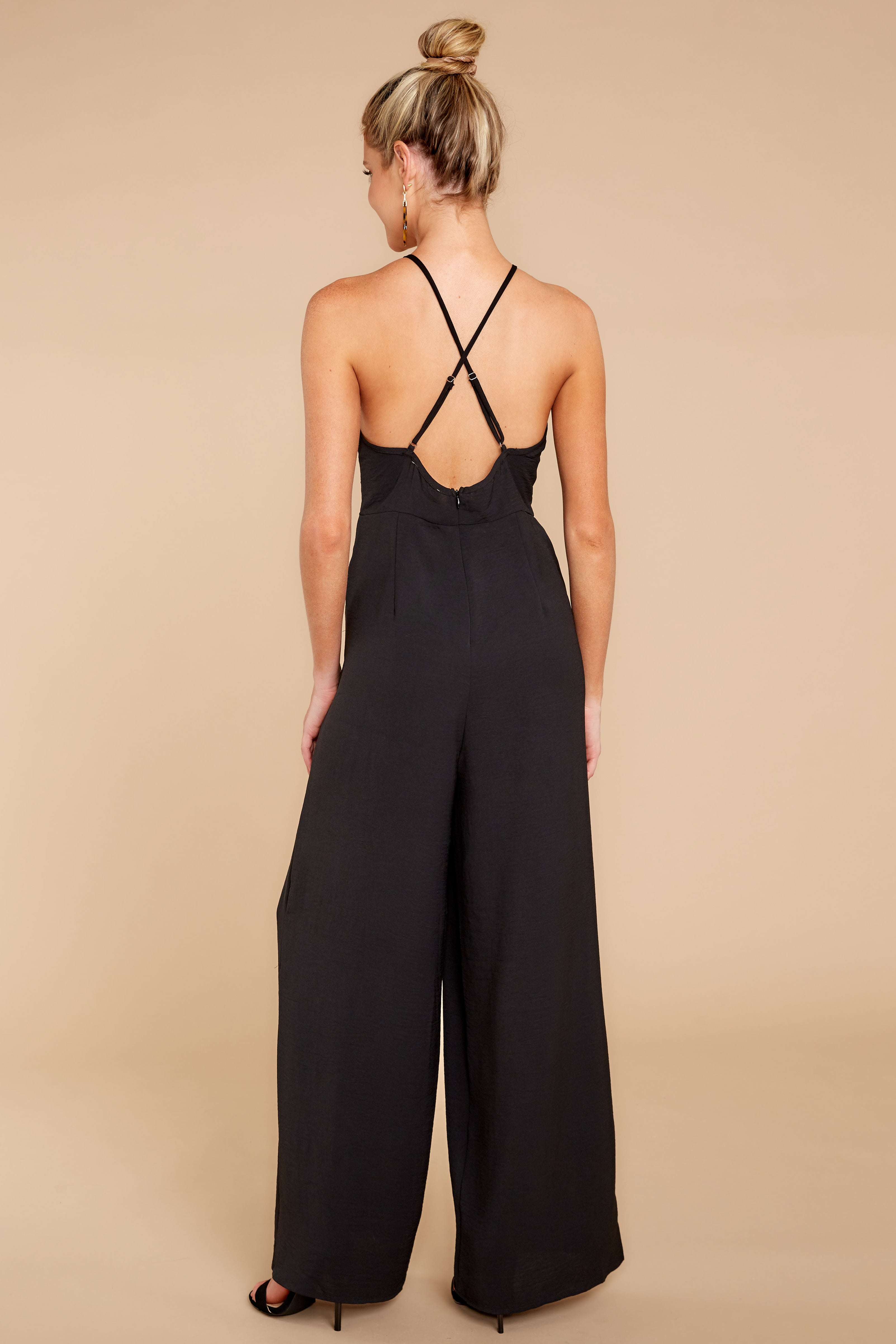 6 No More Games Black Jumpsuit at reddressboutique.com