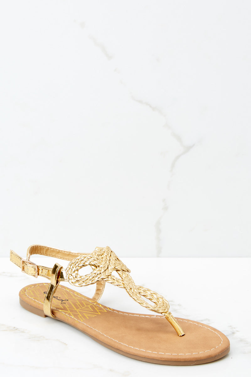 756275fc4997 Chic Gold Sandals - Trendy Gold Sandals - Sandals -  18.00 – Red Dress