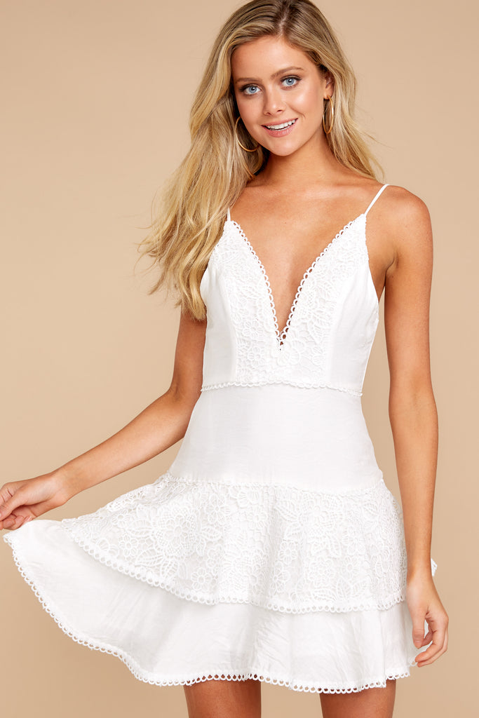 1 Always Me White Eyelet Lace Dress at reddressboutique.com