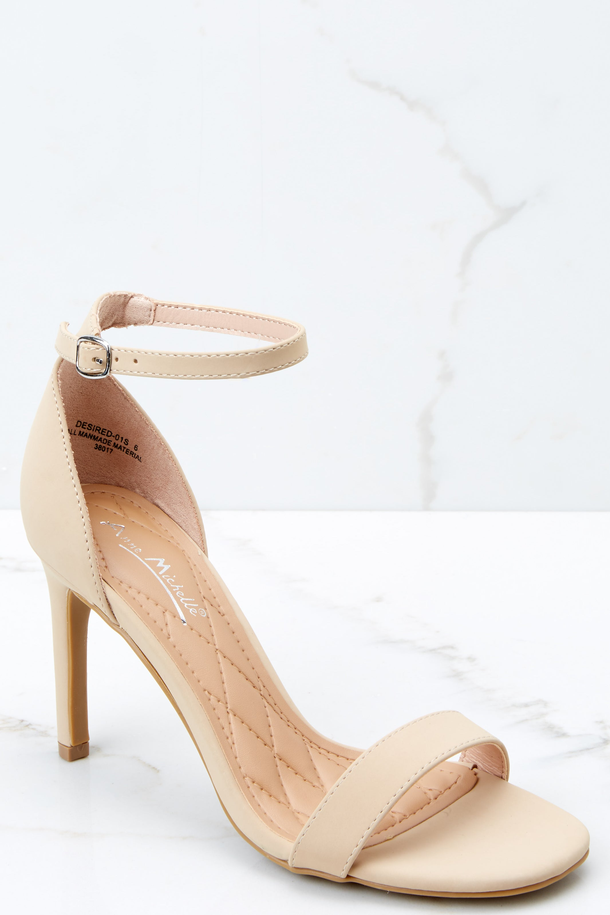 1 Unforgettable Steps Nude Ankle Strap Heels at reddressboutique.com