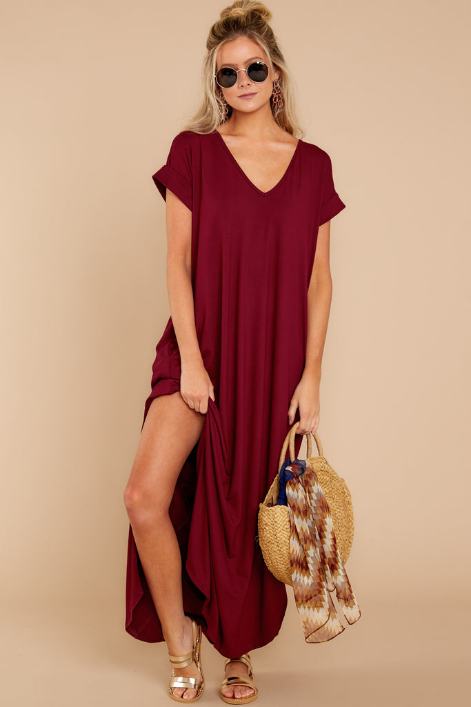 1 Our Favorite Date Mulberry Maxi Dress at reddress.com
