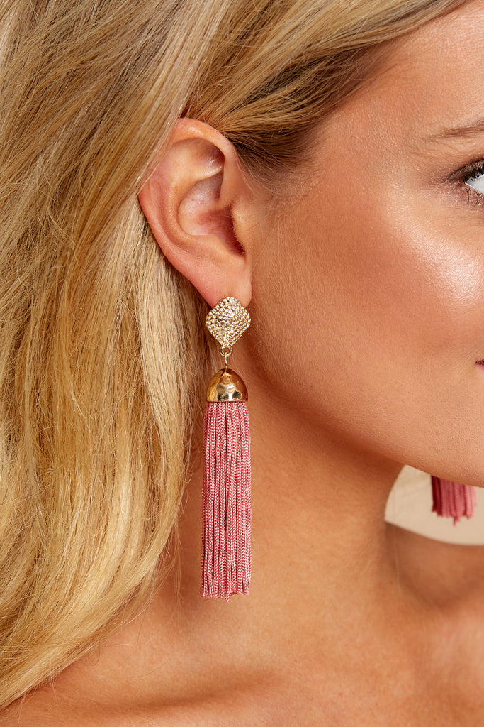 Around It All Mauve Earrings